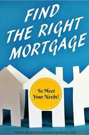 Choose the right mortgage loan